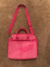 Juicy Couture Bright Pink Velour Laptop Tablet Computer Bag,