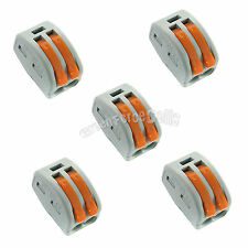 5 x Spring Terminal Block Cable 2 Wire Pin Conductor Compact Connector 28-12AWG