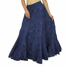 Cotton Wear Rock e Maxi Boho Hippie Spitze Frauen indische Kleidung BSK341B