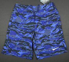 NEW Nike 9 Inch Gladiator Blue Printed Camo Tennis Shorts FEDERER NADAL 685236