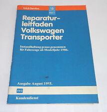 Werkstatthandbuch Instandhaltung genau genommen VW Transporter Bus T3 ab Mj.1986