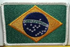 BRAZIL Flag Patch With VELCRO® Brand Fastener Military Police WHITE Emblem #6