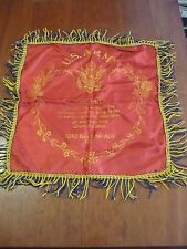 Vintage U.S. ARMY FORT GEO. MEADE MD PILLOW CASE  MILITARY WW2? RED GOLD BLUE
