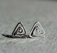 Fashion Triangle Screw  Simple 925 Silver Plated Lady Party All_match Earrings