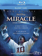 MIRACLE BLURAY & DVD KURT RUSSELL WALT DISNEY HOCKEY OLYMPICS 1980