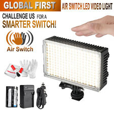 Pergear A216C Touchless AIR SWITCH LED Video On Camera Light +Battery Kit + Gift