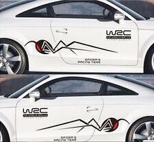 A Set auto black spider sport Styling Vinyl Car Body Sticker Waist  Decals WRC