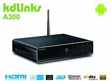 KDLINKS A300 4K H.265 HD TV Streaming Media Player 4 Core CPU 2GB RAM Android