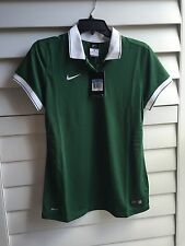 Nike Women's Laser Polo Shirt NWT Sz M 588506 Dark Green White