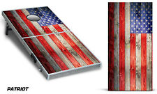 Custom Cornhole Wrap for Bean Bag Toss Game Corn Hole Vinyl Decal Sticker USA