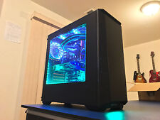 ULTIMATE CUSTOM BUILT GAMING COMPUTER/PC WITH WIN 7+WIN 10+22 GAMES LIQUID COOLD