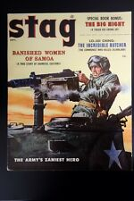 Stag Sep 1956 Rudy Nappi, Browning 50 cal Machine Gun Cvr, Schulz, Julian Block