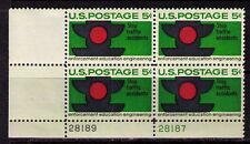 US USA Sc# 1272 MNH FVF PLATE # BLOCK Traffic Stop Light