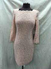 """ADRIANNA PAPELL DRESS/LACE DRESS/LINED/BLUSH/SIZE 12/LENGTH 39""""/RETAIL$160"""