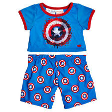 Build a Bear Captain America™  PJ's Pajamas Sleepwear 2 pc. - New