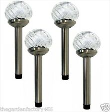 Smart Solar Orion Glass Solar Powered Stake Garden Lights 4 Pack Colour / White