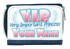 "VIP ""VERY IMPORTANT PRINCESS"" PERSONALISED DENIM PURSE /MINI WALLET *NAMED GIFT*"