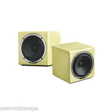 Avantone Pro Active Mix Cubes Powered Monitors Cream PAIR NEW MixCubes