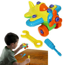 Dazzling Toys DIY Assembly Airplane Model Kids Educational Learning Tinker Toy