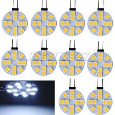 10x G4 Base Disc Type Side Pin 12-SMD Reading Marine RV LED Light White DC 12V