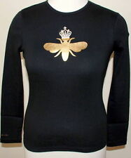My Flat In London Black L/S Gold Queen Bee - Small - New