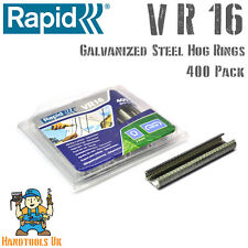 RAPID VR16 galvanizzati Hog RINGS for use with FP20 / FP216 RECINZIONE PINZE 400 PACK