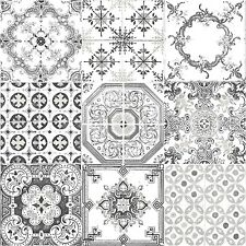 Vintage Kitchen/bathroom Washable Wallpaper.Luxurious Design Black And White