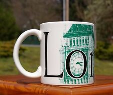 Starbucks Coffee Company 2002 Green London City Mug Collector Series