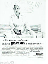 PUBLICITE ADVERTISING 066  1966 le drap Descamps L'Ainé