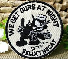 Felix the cat Cosplay Costume Badge patchs embroidery Embroidered Circle Patch