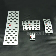S-Line AT Foot Rest Pedal Set For AUDI A4 A4L A5 A6 A6L A8 A8L Q5 B6 B7 B8 LHD