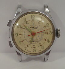 Vintage Men's Sheffield Swiss Calendar Wristwatch Stop Watch for Parts/Repair