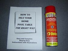 Professional Pool Table Felt Adhesive + FREE Pool Table Felting Manual *Pro Glue