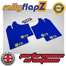 Rally Mudflaps to fit MG ZR Rover Mud Flaps rallyflapZ Blue Logo Yellow 3mm PVC