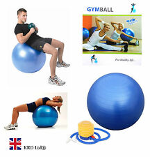75cm GYM BALL Core Abs Exercise Pregnancy Birthing Aid Swiss Yoga Fitness + PUMP