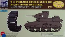 BRONCO AB3553 T-16 Workable Track Links for M-3/M-5 Stuart in 1:35