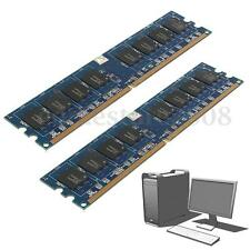 2GB 2x1G PC2-5300 DDR2 667MHZ 240Pin Non-ECC DIMM Memory RAM Desktop PC Computer