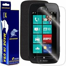 ArmorSuit MilitaryShield Nokia Lumia 710 Screen + Black Carbon Fiber Skin! New!