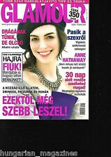 Glamour Ungarn / Hungary Hungarian Magazine 2008/02 - Anne Hathaway - Cover