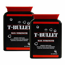 GENUINE ORIGINAL T BULLETS EXTREME TESTOSTERONE BOOSTER - PRO ANABOLIC TEST X2