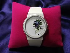 Woman's Quartz Watch with Violets B31-315