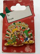 Disney Feliz Navidad Christmas Mickey Minnie Three Caballeros Donald Pin NEW