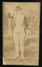 1890 N150 Gail & Ax Navy Long Cut ACTRESSES -Woman w/ cane in hand