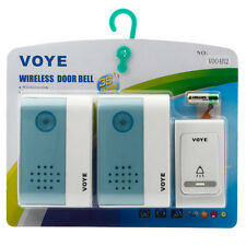 Home Wireless Digital Door Bell 2-Receivers Remote Control 1-Transmitter 50M US