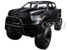 "2014 DODGE RAM 1500 PICKUP MATT BLACK OFF ROAD ""JUST TRUCKS"" 1/24 BY JADA 97473"