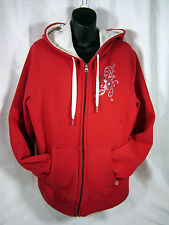 Hudson Bay Co. Canada Olympic Red Full Zipped Women's XL Fleece lined Hoodie
