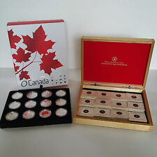 1/2 oz Fine Silver Coins Set - O Canada 12-Coin $10 x 12 (2013)