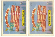1986 Garbage Pail Kids Cards Series 6 241a Old Gloria / 241b Jose Can You See