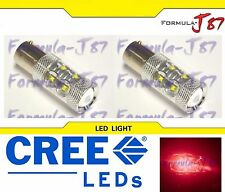 CREE LED Miniature 50W 1157 S25 BAY15d Red Two Bulbs Replacement Light Upgrade