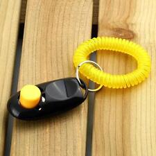 Dog Pet Click Clicker Training Obedience Agility Trainer Aid Wrist Strap uf
